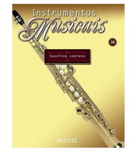 miniatura saxofone soprano instrumentos musicais salvat