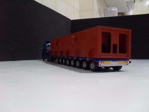 miniatura scania + carreta carrega tudo com a carga