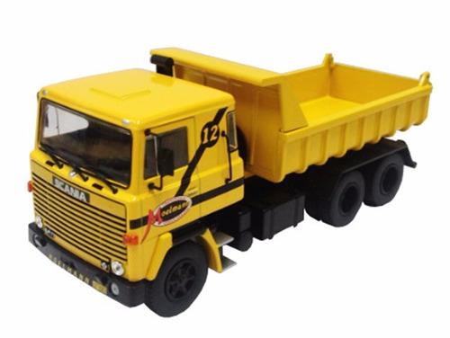 miniatura scania lks 140 moelmann 1976-1978 amarelo 1:43 ixo