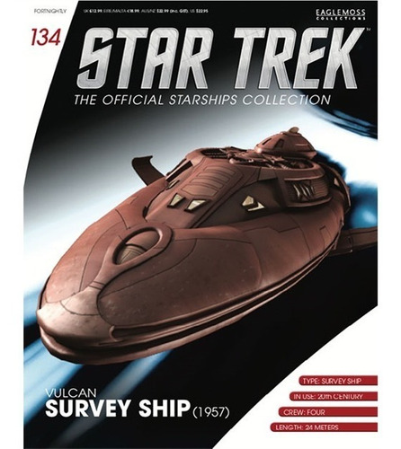 miniatura star trek 134 vulcan survey ship - bonellihq l19