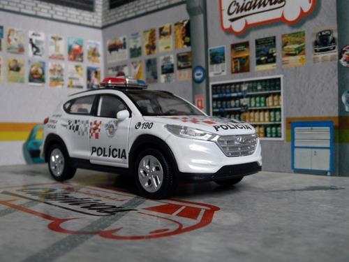 miniatura tucson polícia militar pm sp 2019 - em metal