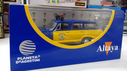 miniatura veraneio policia 1:43 deagostini edição especial