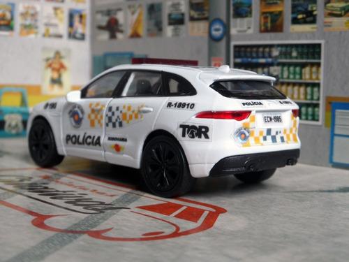 miniatura viatura pm sp rodoviária tor - suv polícia militar