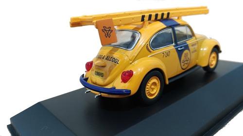 miniatura volkswagen fusca telesp telefonia 1:43