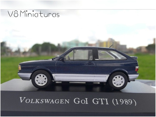 miniatura volkswagen gol gti (1989) -carros inesquecíveis do