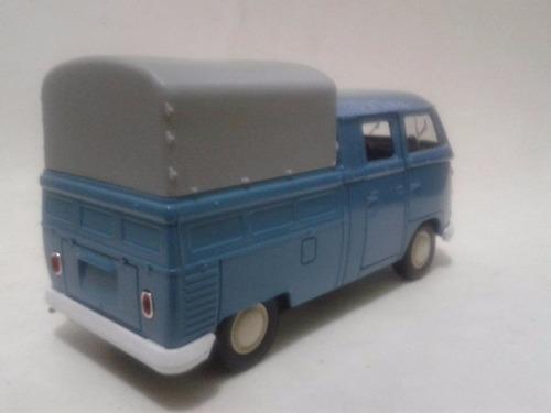 miniatura vw kombi pickup azul cabine dupla nova !!!