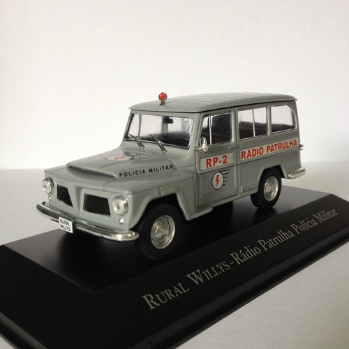 miniatura willys rural radio patrulha