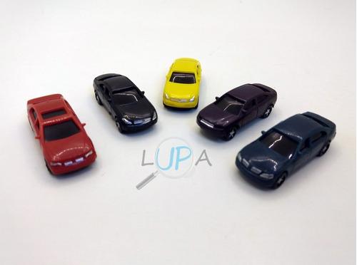 miniaturas automóveis escala 1:100 - maquete kit 50pçs
