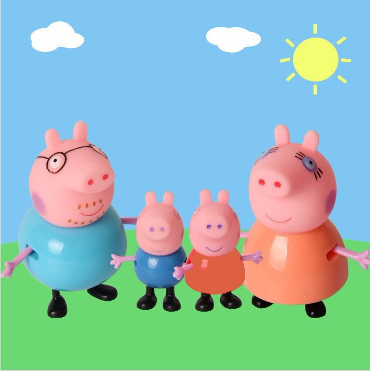 Miniaturas Familia Peppa Pig George Papai E Mamae Pig R 35 90