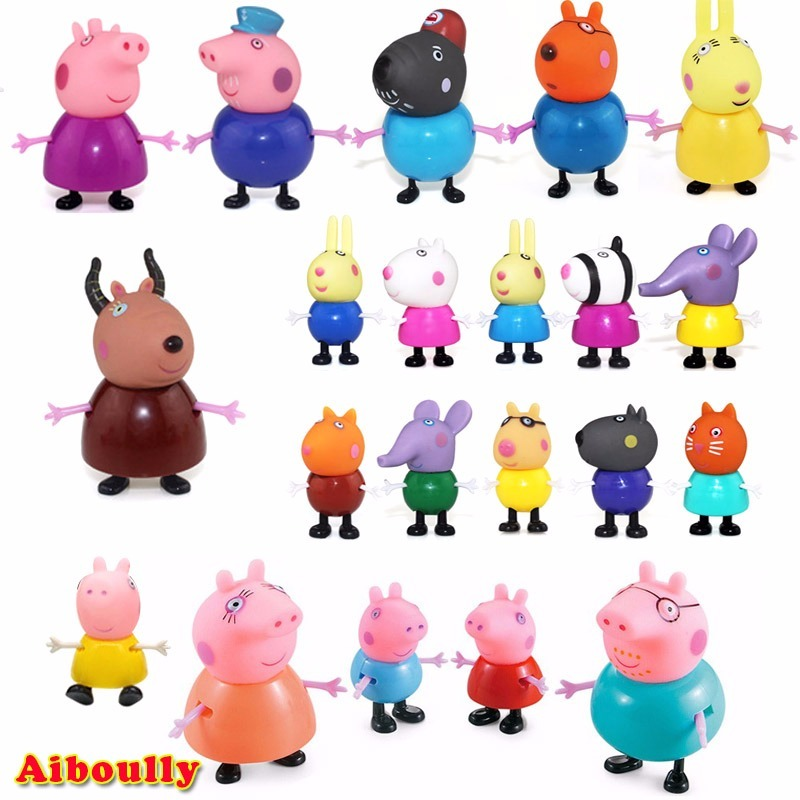 Miniaturas Familia Peppa Pig Kit Completo 21 Pcs Envio 24 Hr R