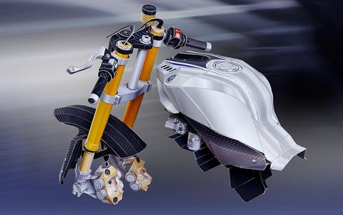 miniaturas papel modelismo moto yamaha yzf r1 ultra real