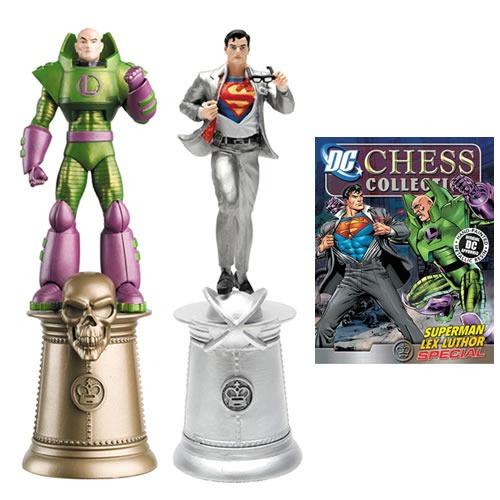 miniaturas superman lex luthor - dc chess - bonellihq k17