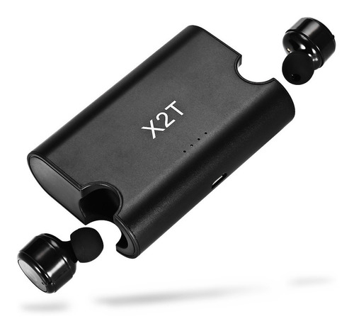 miniauriculares intraurales x2t inalámbricos bluetooth negro