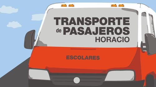 minibus traslado de pasajeros. recitales, eventos, salidas.