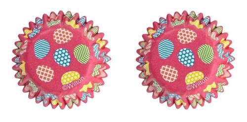 minicapacillos cupcakes wilton fucsia diseño 100u
