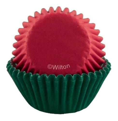minicapacillos minicupcakes 100u navidad verde rojo