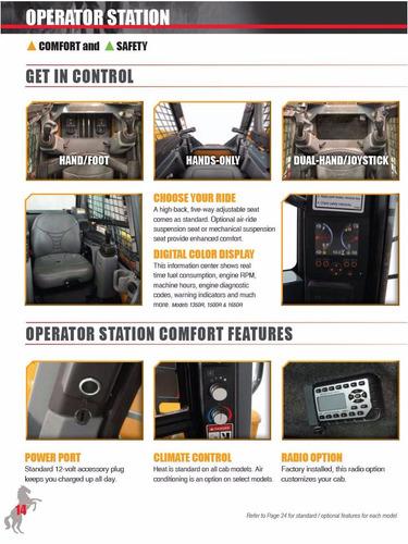 minicargador mustang r1500 de 46,3 hp  nuevo modelo 2016