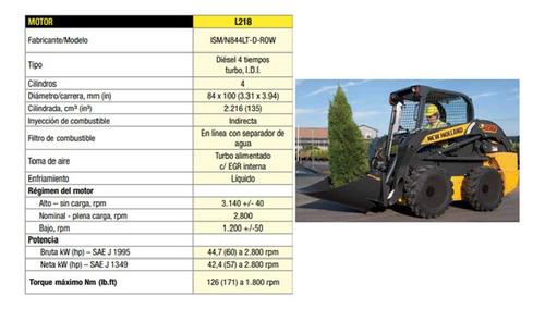 minicargadora new holland l218 - 0km