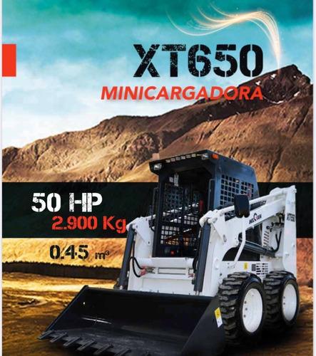 minicargadora wecan xt650 2019 - impecable
