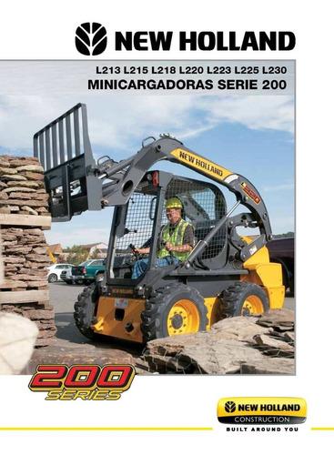 minicargadoras serie 200 nh - tipo bobcat - 0km
