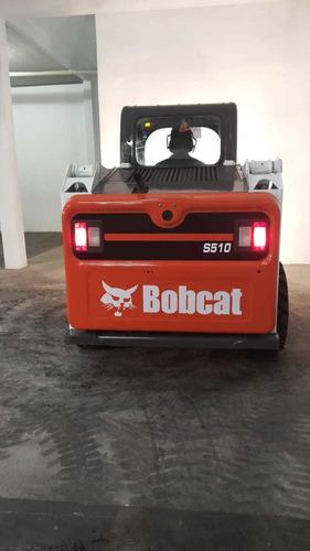 minicarregadeira bobcat s510 2015 953hs pneu semimaciço novo