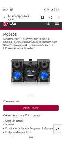 minicomponene lg modelo mini hi-fi (alta fidelidad) 650
