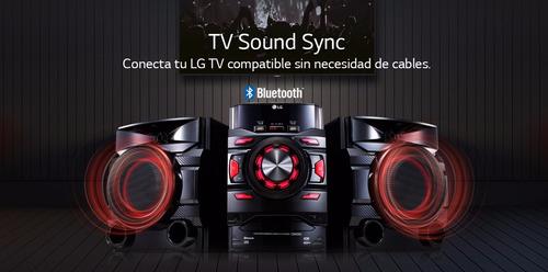 minicomponente lg cm4460 460w bluetooth doble usb karaoke