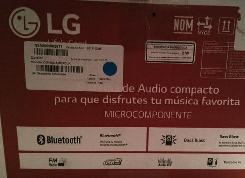 minicomponente microcomponente lg bluetooth mp3 usb aux fm