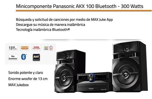 minicomponente panasonic sc-akx100lmk bth 1 cd  usb 3300 wts