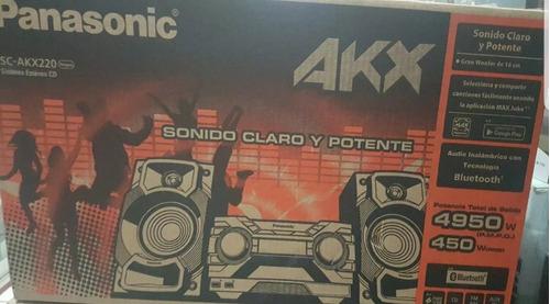 minicomponente panasonic sc-akx220lmk de bluethoot usb nuevo