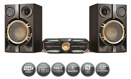 minicomponente philips fx50x/77 bluetooth usb platino e&h