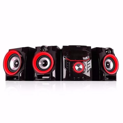 minicomponente proline pr500-mr 5600w subwoofer bt karaoke