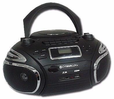 minicomponente radio portatil cyberlux fm am usb sd cd mp3