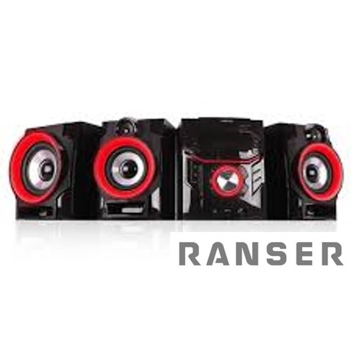 minicomponente ranser ra500 5600w subwoofer bt karaoke dvd