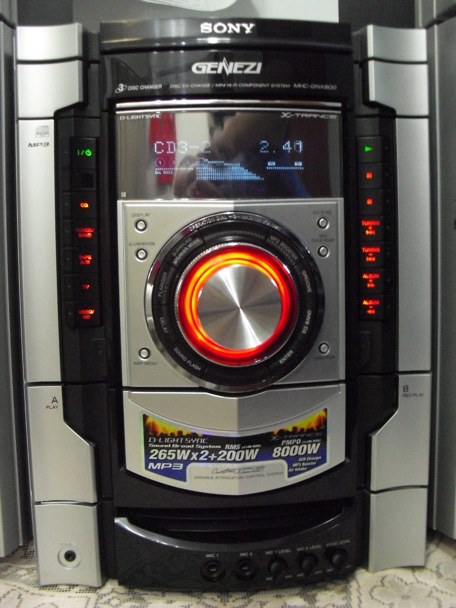 Minicomponente Sony Genezi Mhc