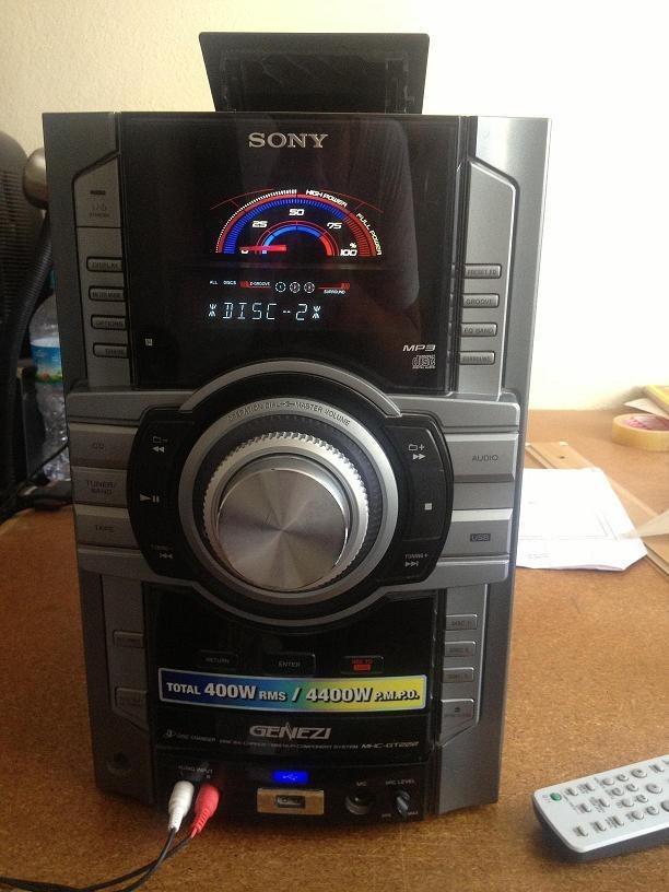 Minicomponente Sony Genezi    Mhc-gt222