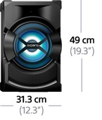 minicomponente sony hcd shake x1 1850w bluetooth