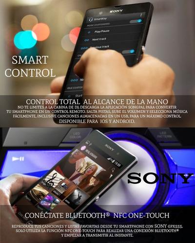 minicomponente sony mhc-gpx555 smart control 1800 watts rms