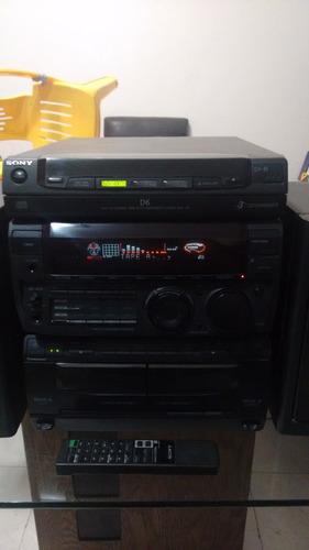 minicomponente sony mod mhc-d6,2 cassetteras,3cds,tuner