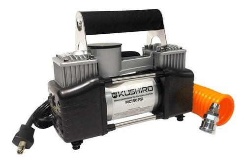 minicompresor 150 psi doble pistón kushiro