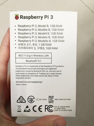 minicomputador raspberry pi3 b caja ventil adapt disipador