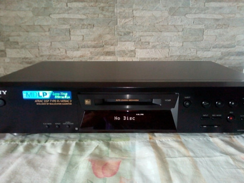 minidisc sony mds-je470 nuevo con control remoto