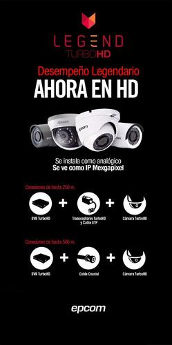 minidomo turbo hd  epcom 1080p lente 2.8mm alcance 20 mts