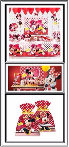 minie festa infantil - kit festa temática minie [24 pessoas]