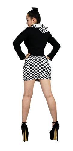 minifalda conjunto top  edecan sexy tipo deportivo vc56