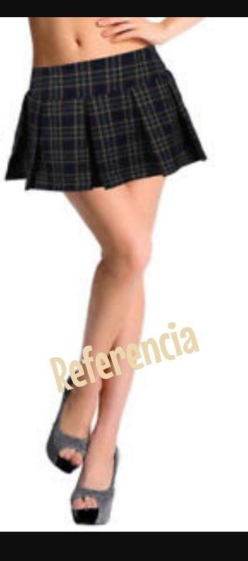 e0eef014b Minifalda Cuadros Marca Guess