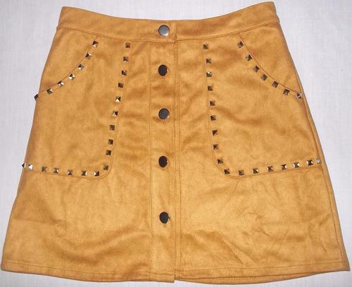 minifalda de gamuza