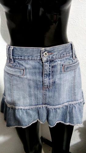 minifalda de mexclilla old navy talla 8