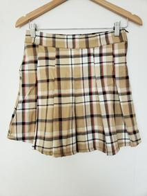 31e69d9ad Faldas Cortas Tableadas - Polleras Corta de Mujer Marrón en Mercado ...