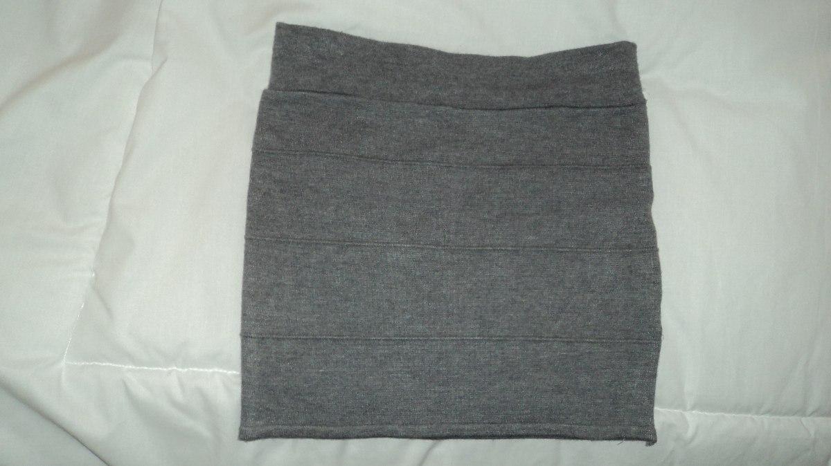 e15420cf4e Minifalda Gris New New -   400.00 en Mercado Libre